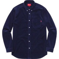 Supreme: Corduroy Shirt - Navy