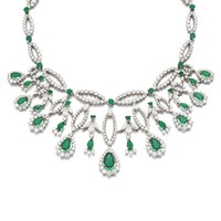 Emerald and diamond necklace, J. Roca, 1970s | Lot | Sotheby's