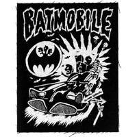 Batmobile Men's Brasil Cloth Patch Black