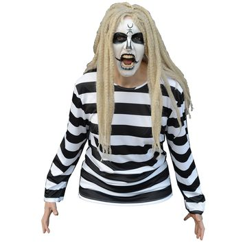 Lords Of Salem Men's  Heidi Shirt And Wig Costume White