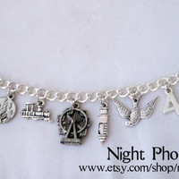 Divergent Inspired Charm Bracelet - Jewelry inspired by Tris, Four, Dauntless, Abnegation