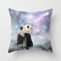 My Thoughts are Stars • (Panda Stargazer) Throw Pillow by soaring anchor designs ⚓ | Society6