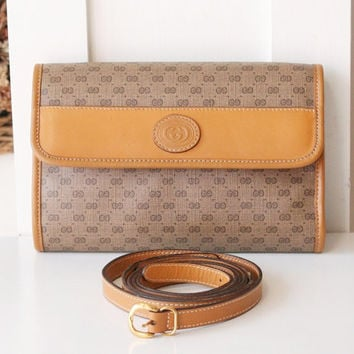 Gucci Bag monogram vintage clutch and Shoulder handbag