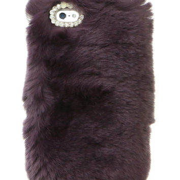 SO FURRY PURPLE IPHONE CASE