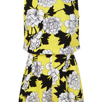 Petites Yellow Floral Playsuit - Cuban Couture - Clothing