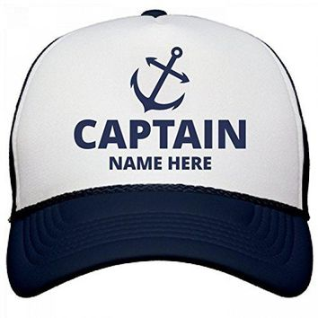 Captain Custom Name Dad Gear: OTTO Poly-Foam Snapback Trucker Hat