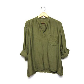 25 Off Sale Vintage Olive Green Shirt From Dirty Birdies Vintage