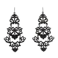 Filigree Chandelier Earrings by Charlotte Russe