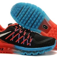Ready Stock Nike Air Max 2015 Running Shoes Black Red Blue Sport Running Shoes