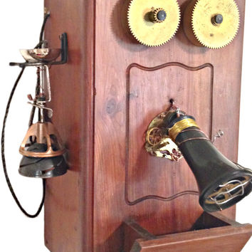 Steampunk Vintage Telephone Cabinet