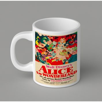 Gift Mugs | Vintage Disney Poster Alice Ceramic Coffee Mugs