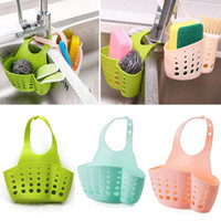 SAE Fortion Portable Basket Home Kitchen Hanging Drain Basket Bag Bath Storage Tools Sink Holder Kitchen Accessory vaciar cesta