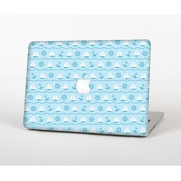 The Subtle Nautical Sailing Pattern Skin Set for the Apple MacBook Pro 15""