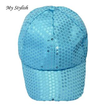 1PCS Baseball Caps 2017 Brand New Fashion MSequin Baseball Cap Cool Hats High Quality Adjustable Colorful Beautiful Dec 26