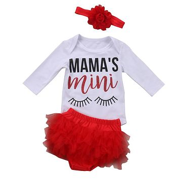 Baby Girl Long Sleeve Tops Romper Lace Shorts Newborn Baby Girl Clothes  New Arrival Outfit Newborn Clothes