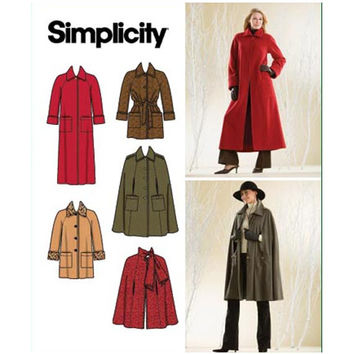 2000s WOMENS CAPE PATTERNS Coat Pattern Jacket Patterns Simplicity 3959 Misses Petite Womens Sewing Patterns Bust 31.5 32.5 34 36 38 UNCuT