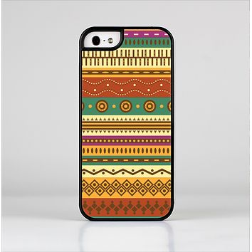 The Aztec Tribal Vintage Tan and Gold Pattern V6 Skin-Sert Case for the Apple iPhone 5/5s