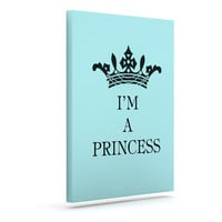 "Louise Machado ""Im a Princess"" Outdoor Canvas Wall Art"