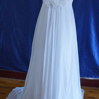 One shoulder Hand-Made Flower wedding dresses Ball gowns Bridal Gown Bridesmaid Dress Evening Prom Dress