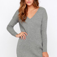 Cliff Notes Grey Sweater Dress