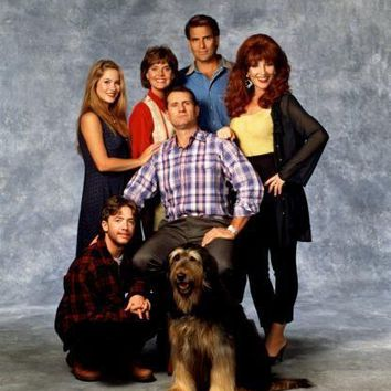 Married With Children Cast Metal Print 8in x 12in