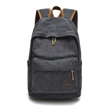University College Backpack Men Canvas   Student School  Bags for Teenagers Vintage Mochila Casual Rucksack Travel Daypack PT1106AT_63_4