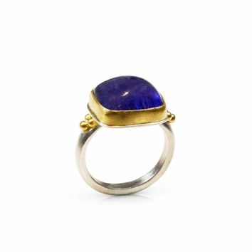 All NEW Alexa - Tanzanite Rectangle Ring from Kilimanjaro