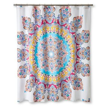 Boho Boutique® Gypsy Rose Shower Curtain - Multi-colored