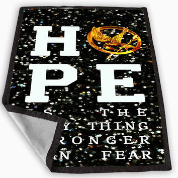 Hunger Game Hope Quotes Sparkly Glitter Blanket for Kids Blanket, Fleece Blanket Cute and Awesome Blanket for your bedding, Blanket fleece **