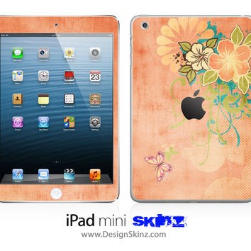 Wildflower Grunge iPad Skin