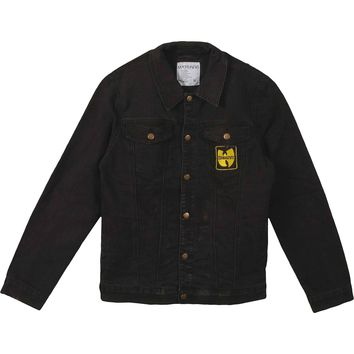 Wu Tang Clan Men's  Forever Patch Denim Jacket Denim Jacket Denim