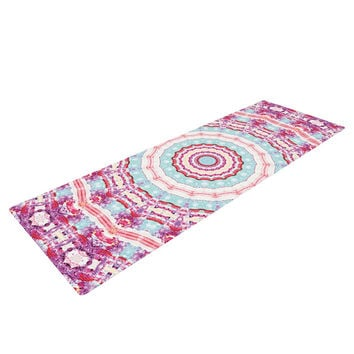 "Iris Lehnhardt ""Happy"" Circle Pink Yoga Mat"