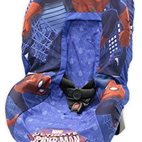 Marvel Spiderman Car Seat Cover, Blue/Red