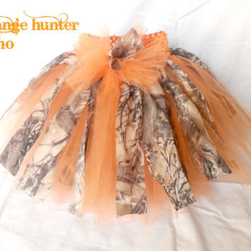 Hunter orange girls camo hunting tutu for Daddy's little hunting princess