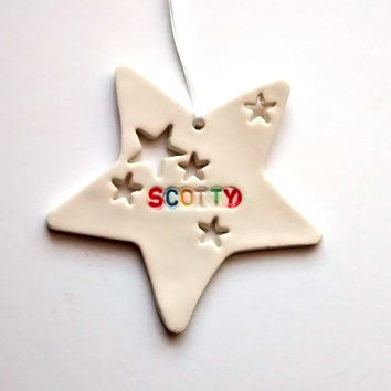 Kids Bedroom Door Sign, Custom Name Sign, Personalised Kids Star Decoration Room Decor