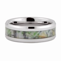 Camo Hunting Camouflage 8mm Tungsten Carbide Wedding Band Ring