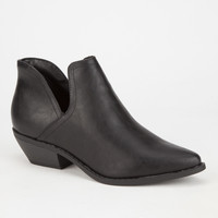 Soda Inbox Womens Booties Black  In Sizes
