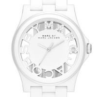 Women's MARC BY MARC JACOBS 'Henry Skeleton' Bracelet Watch, 41mm - White