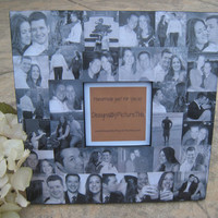 """Personalized Engagement Collage Picture Frame, Wedding, Anniversary 12"""" x 12"""""""