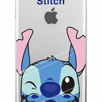 We Love Stitch Lilo & Stitch Clear Phone Case For iPhone 7 7+ 6 6s Plus 5 5s SE + Samsung ALL