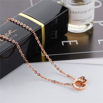 Roman Numeral Necklace Rose Gold Jewelry Necklace Love Heart Round Circle Shape Bulgaria Jewelry for Women Statement Necklaces