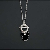 Mickey Mouse Chain and Pendant [Black Mickey Pendant]