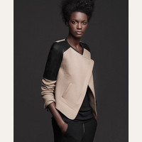 WOOL JACKET WITH CONTRASTING SHOULDERS - Jackets - TRF - ZARA United States
