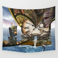 Steampunk Ocean Dragon Library Throw Blanket by Just Kidding