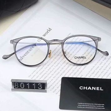 Chanel Women Fashion Popular Shades Eyeglasses Glasses Sunglasses Black G-A-SDYJ