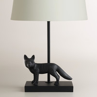 Metal Fox Accent Lamp Base - World Market