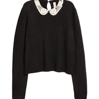 Sweater with Lace Collar - from H&M