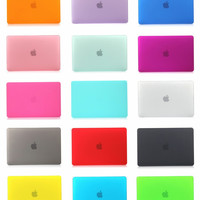 "For Apple Macbook Air 11"" 13"" Pro 13"" 15"" Pro With Retina 12'' 13"" 15"" Frosted Surface Matte Hard Cover Case"