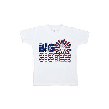 Custom Party Shop Girls' Big Sister 4th of July T-shirt