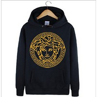Versace 2016 Fashion Women's autumn and winter long-sleeved hood printing short paragraph casual sweater